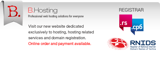 Professional web hosting solutions for everyone - www.bhosting.rs!